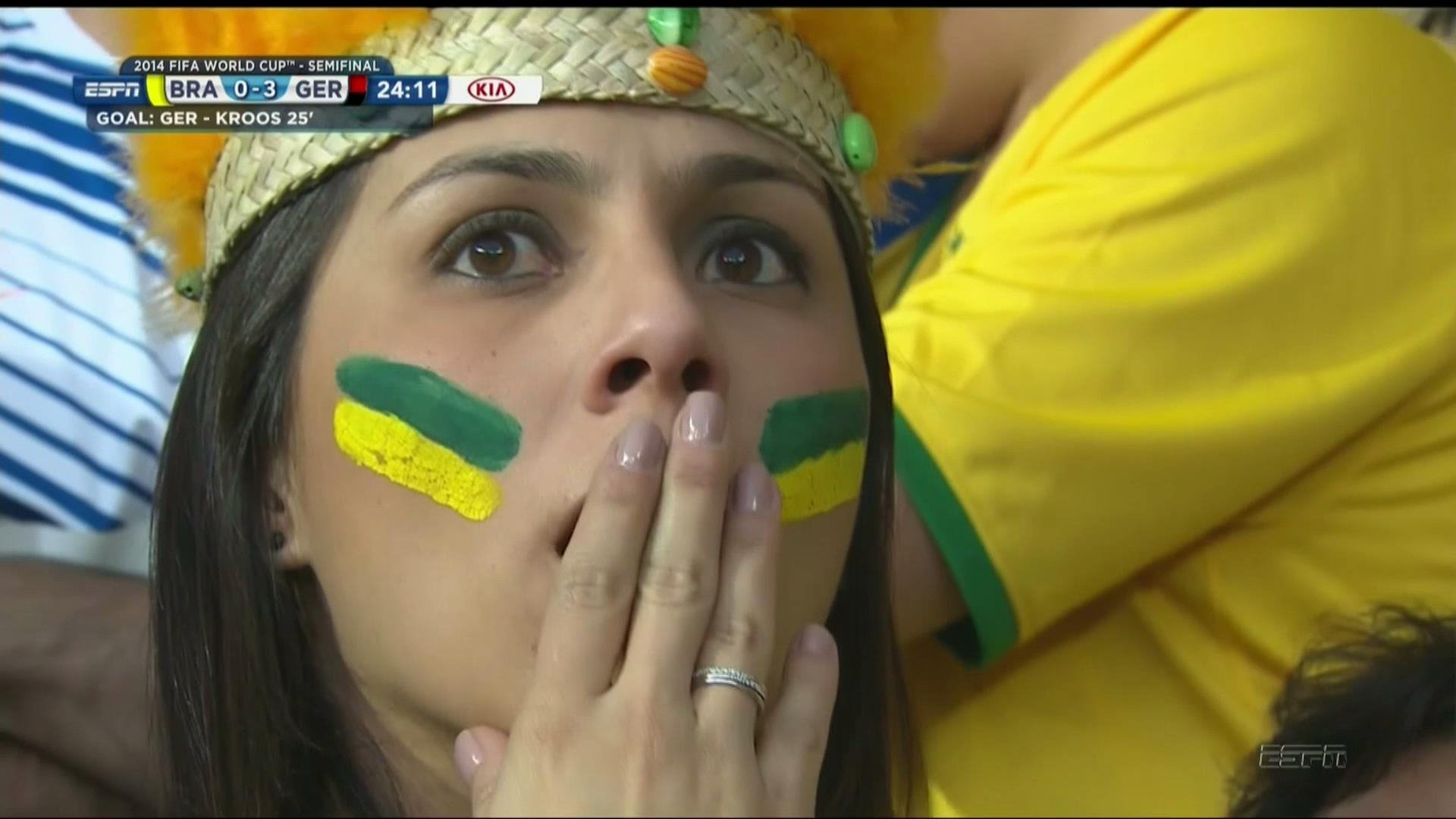 Brazilian Fan Puizzled after a third goal